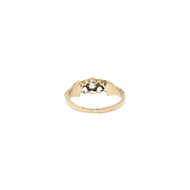 Victorian 0.29 CTW Diamond & 14K Yellow Gold Engagement Ring Ring