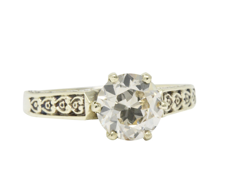 Victorian 1.32 CTW Diamond 14 Karat Gold Solitaire Engagement Ring Ring out-of-stock Victorian