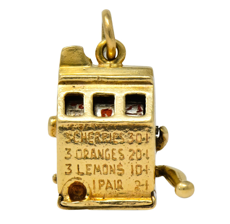 Walter Lampl Articulated Art Deco 14 Karat Gold Slot Machine Charm - Wilson's Estate Jewelry