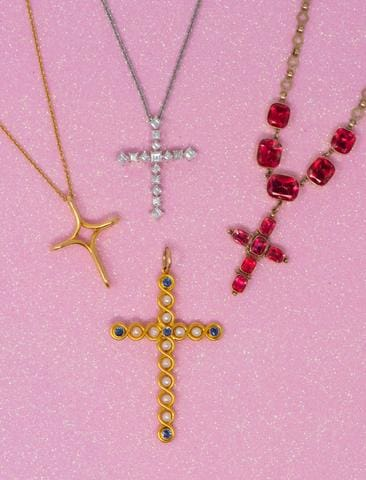 Easter Crosses Vintage Jewelry Estate Cross