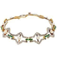 History of Edwardian Jewelry Belle Epoque Bracelet emerald pearl diamond