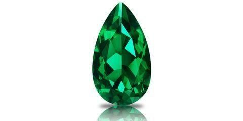 Faceted Pear Cut Emerald Colombian Emerald Estate Jewelry
