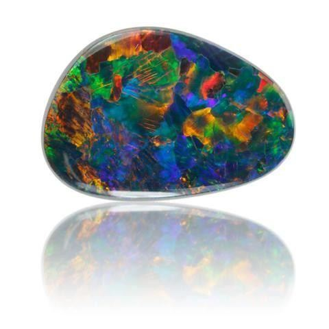 Black Opal Cabochon Spectral Play-Of-Color Opal Birthstone