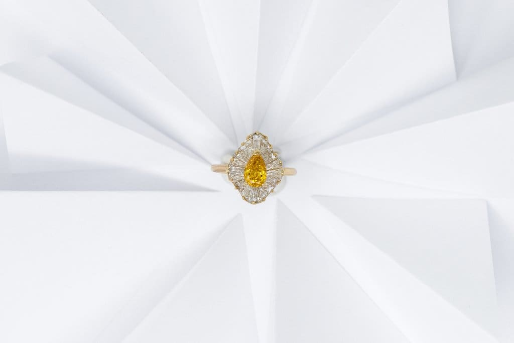 yellow diamond engagement rings antique estate jewelry