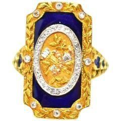 History of Victorian Jewelry Victoria enamel ring diamond