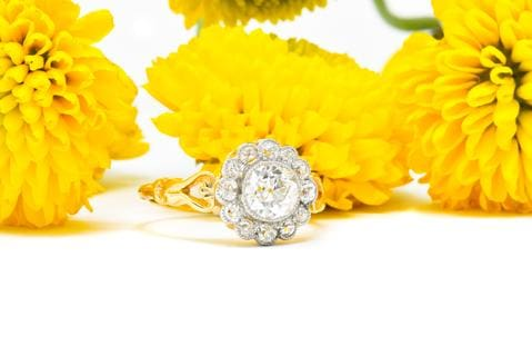 what is an antique European cut engagement ring?