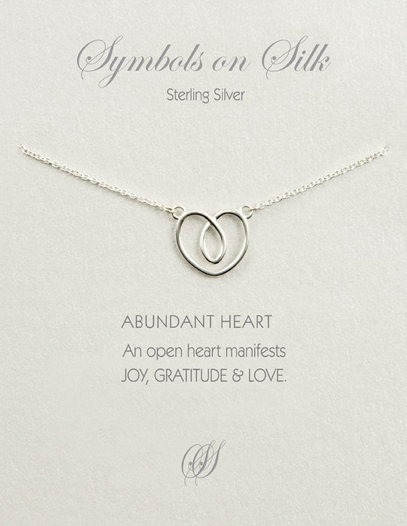 Abundant Heart necklace on chain