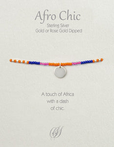 Afro-Chic - Pink, blue, orange, silver