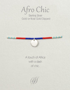 Afro-Chic - Blue, red, turquoise, silver