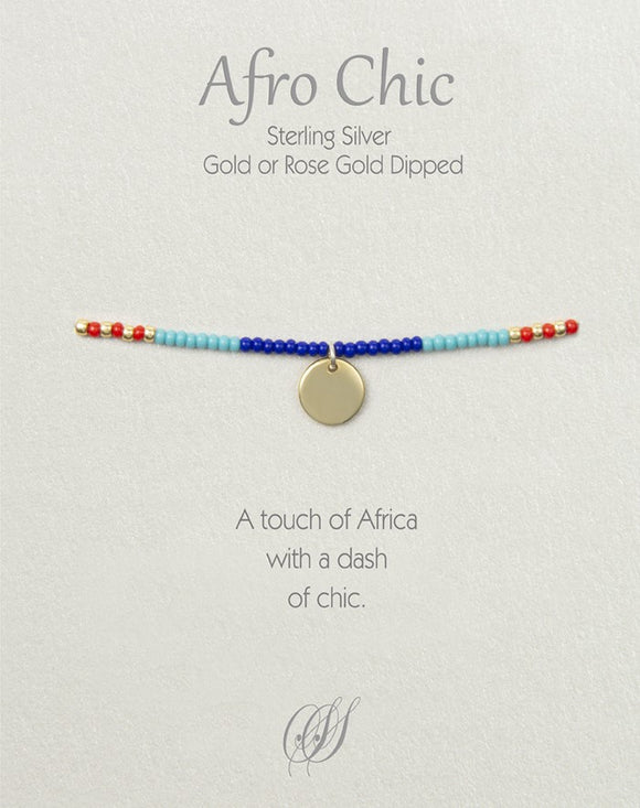 Afro-Chic - Red, blue, turquoise, gold