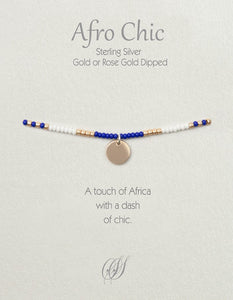Afro-Chic - White, blue, rose gold