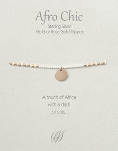 Afro-Chic - White, rose gold
