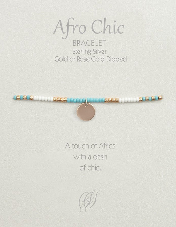 Afro-Chic - White, turquoise, rose gold