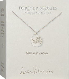 Forever Stories Rhino disc necklace