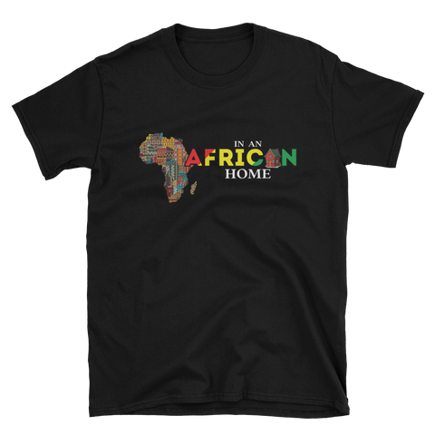 African Home On Black T-Shirt