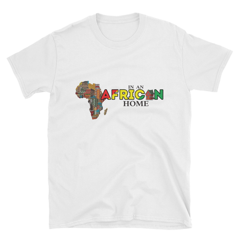 African Home On White T-Shirt