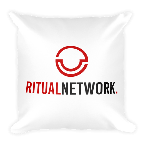 Ritual Network Square Pillow