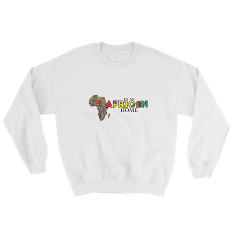 African Home On White Sweatshirt