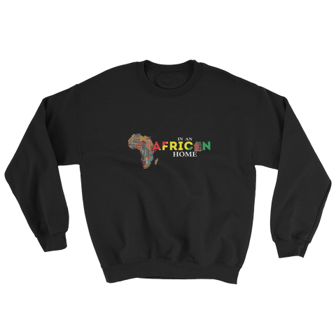 African Home On Black Sweatshirt
