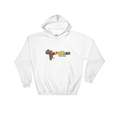 African Home On White Hoodie