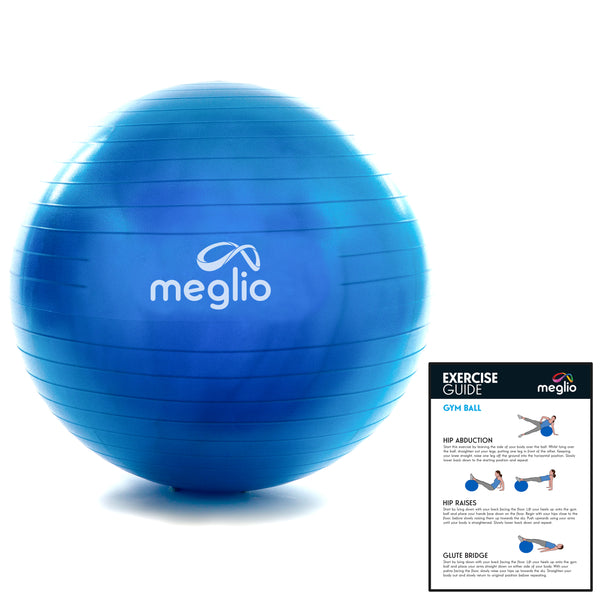 meglio balle yoga pilate bleu anti eclatement innovation guide d'exercice