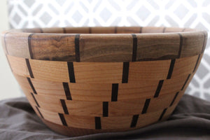 Black Walnut and Alder Basket Style Bowl