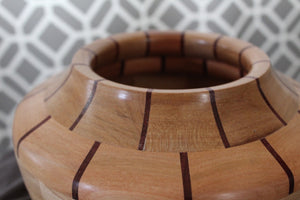 Ash and Padauk Basket Style Bowl