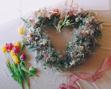 Soft Blush Heart Wreath