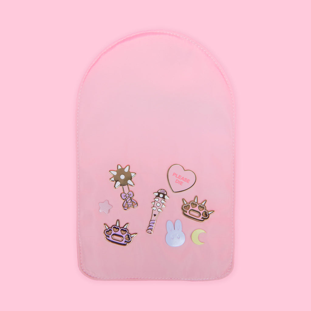 Soft pink pin insert with enamel pins