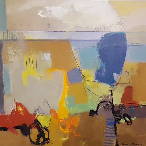 Lets Go For A Ride #0714 original abstract acrylic by Ursula Brenner