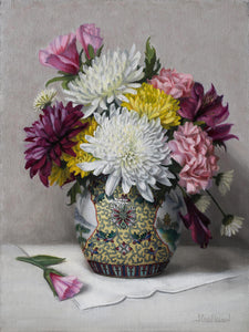 """Bouquet in Ginger Jar"" by Jeanne Leemon"