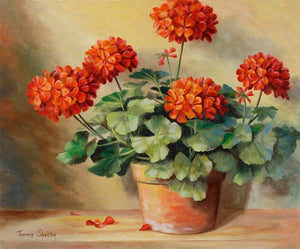"""Red Geranium"" by Theresa Shelton"