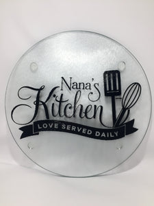 Nana\'s Kitchen (Love Served Daily) - Cutting Board (round ...