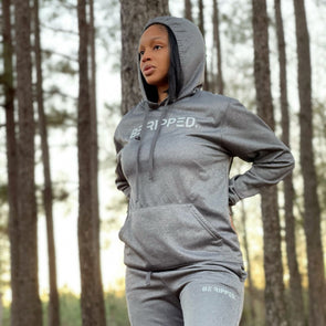 gray tech fleece performance hoodie