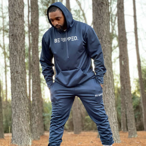 navy tech fleece performance hoodie