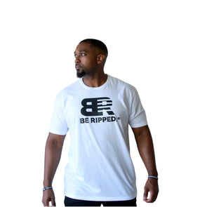 UNISEX BE RIPPED BOLD TEE - WHITE