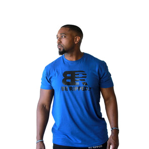 UNISEX BE RIPPED BOLD TEE - ROYAL BLUE
