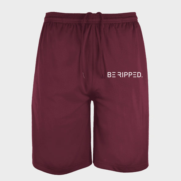 MEN'S PERFORMANCE SHORTS - MAROON-BE RIPPED FITS