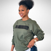 Military Green Crewneck Sweatshirt