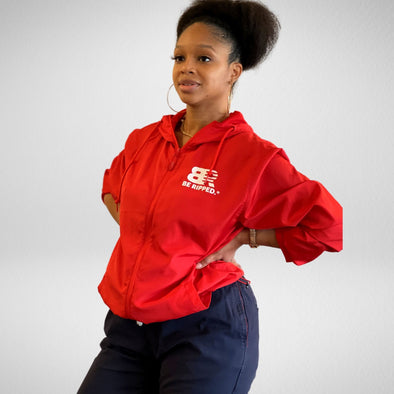 Red Be Ripped Unisex Windbreak Jacket