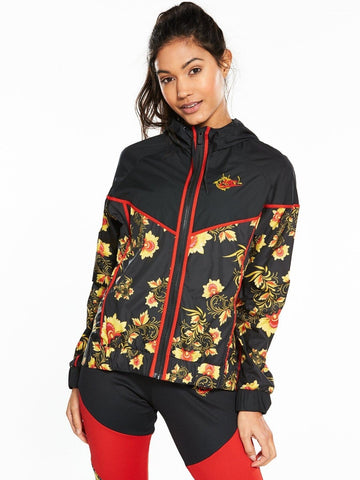 Nike Floral Printed Jacket & leggings Black Red - 922188 - 010 , 921644 - 010
