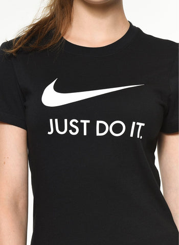 Nike Sportswear Just Do It Women's Tee in Black - CI1383-010 - soccerkingstore