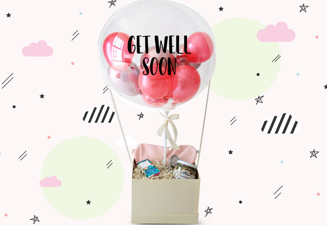 Get Well Soon , detalle para hospital , recupérate pronto , regalo con flores
