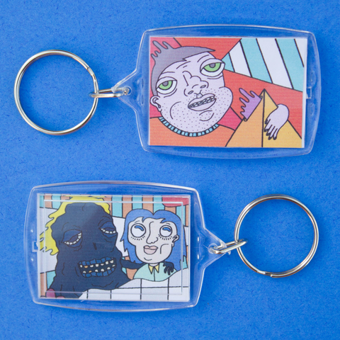 PYRAMID GAZE & BEST FRIENDS keychain