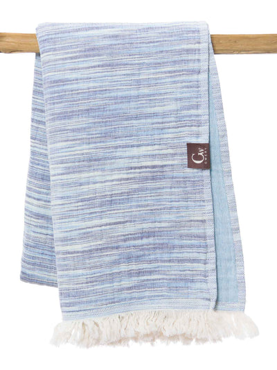 Gwery blue signature 100% cotton Portuguese beach towel