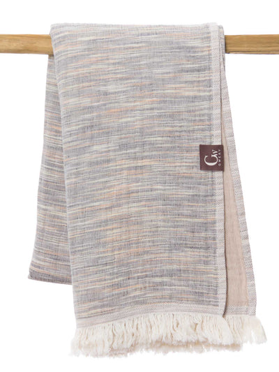 Gwery brown signature 100% cotton Portuguese beach towel
