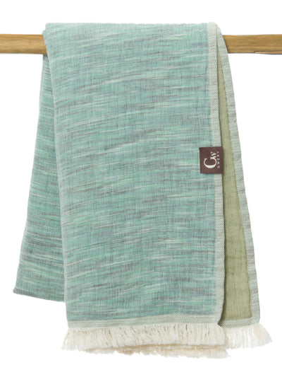 Gwery green signature double-sided 100% cotton Portuguese beach towel