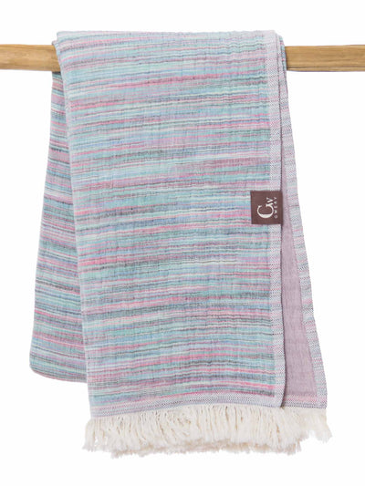 Gwery multicolor signature double-sided 100% cotton Portuguese beach towel