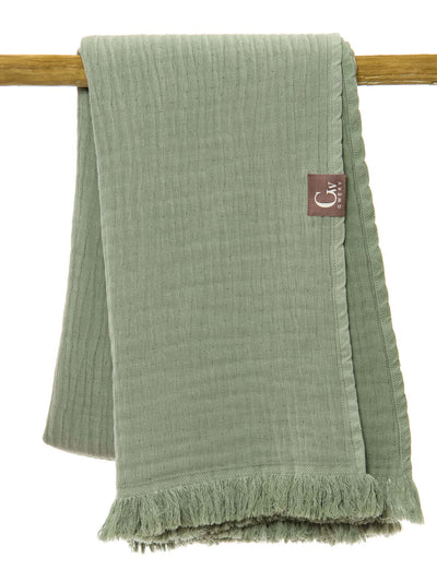 Gwery green double-sided 100% cotton Portuguese beach towel