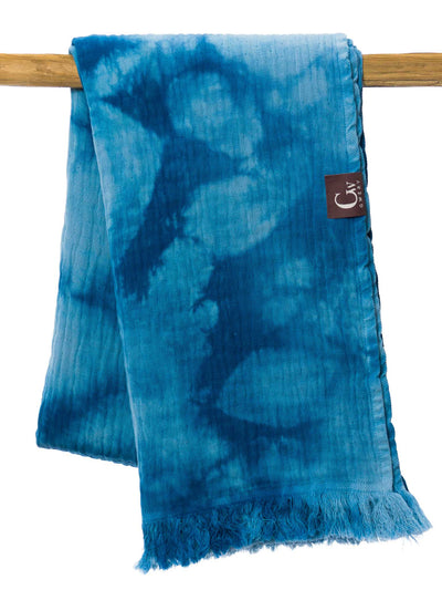 Gwery blue one of a kind handmade pattern 100% cotton Portuguese beach towel